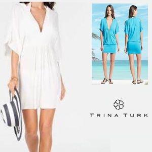 NWOT White Trina Turk Resort Wear Tunic